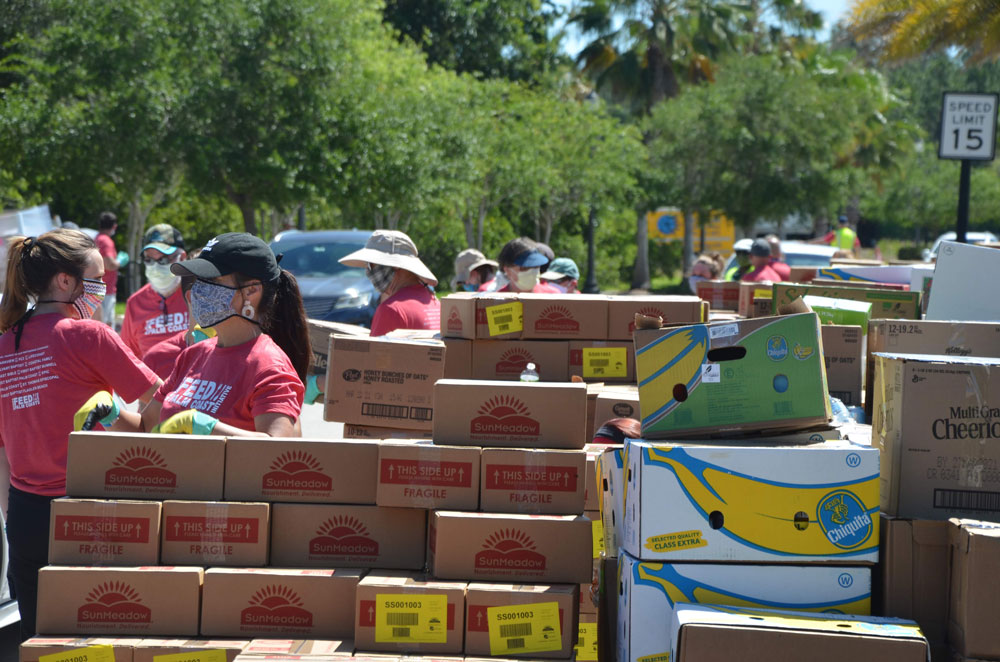 When Palm Coast organized its food drop in May, Florida was filling only 44 percent of unemployment benefit applications within three weeks, a rate half the required federal standard. In October, it was 57.7 percent, still 30 percent short of the federal standard. (© FlaglerLive)