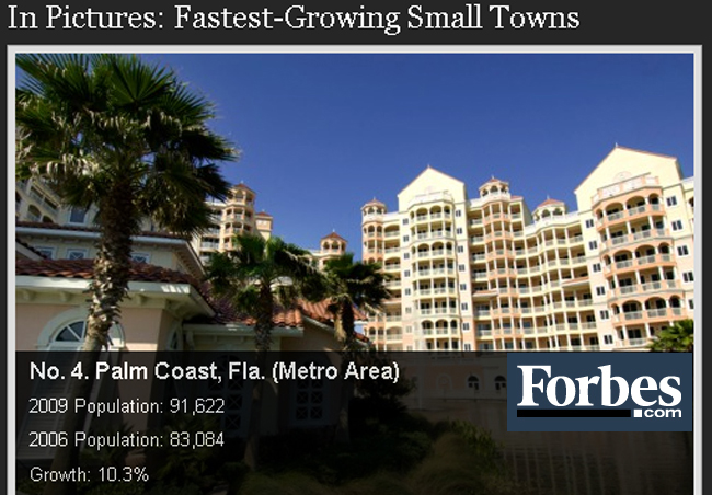 palm coast fastest growing city according to forbes inaccurate