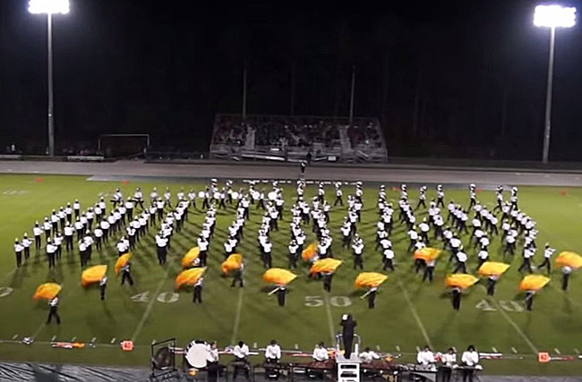 A baker's dozen of Superiors for Flagler Palm Coast High School's band, under the direction of John Seth.