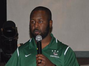 FPC Coach Travis Roland. (© FlaglerLive)