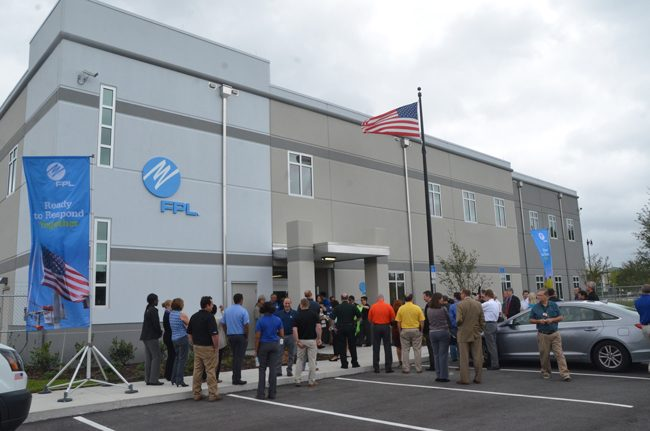 The new FPL service center near Florida Hospital Flagler can withstand Category 5 hurricane winds. (c FlaglerLive)