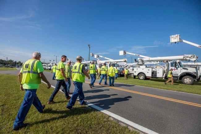 AEP, Dominion crews head south to help with Irma recovery