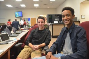 Flagler Palm Coast High School Future Problem Solvers Aaron Carll, left, and Jayson Dwyer