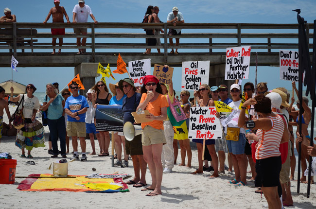 Take your fracking and shove it: protesters in South Florida. (Astronomy Gal)