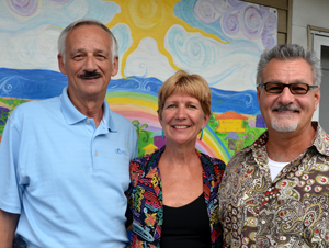 Frank Gromling, left, Carol Fisher and Joseph Pozzuoli. (© FlaglerLive)