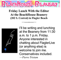 lunch at the beanery with flaglerlive editor pierre tristam