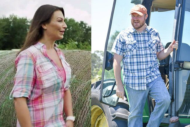 Desperate to look the part: Nikki Fried and Matt Caldwell, the candidates for Commissioner of Agriculture. (Facebook)