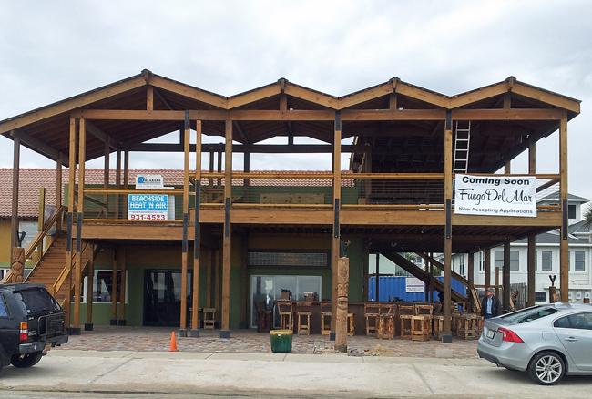 Fuego del Mar opens later this month, adding to Flagler Beach's growing list of higher-scale, non-chain restaurants. (c FlaglerLive)