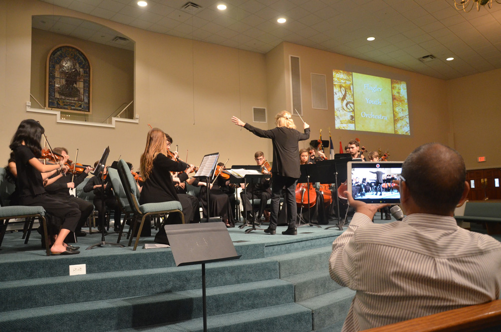 The Flagley Youth Orchestra presents its top players, the Harmony Chamber Orchestra, in a wall-to-wall top-flight performances for a fund-raising concert Saturday at First Baptist Church in Bunnell. See below. (© FlaglerLive)