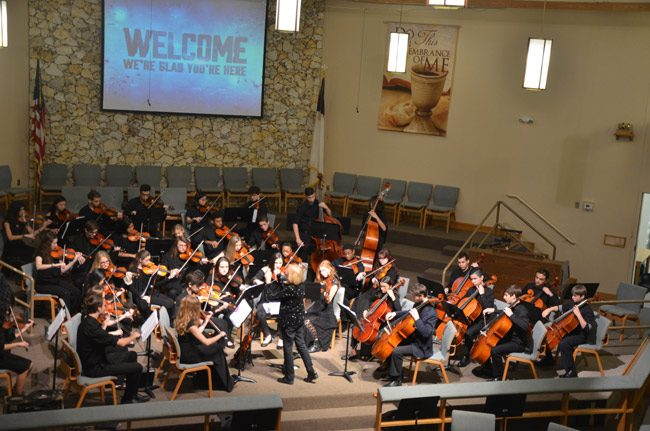 The Flagler Youth Orchestra Performs in the Palm Coast United Methodist Church's Concert Series at 4 p.m. in the Palm Coast United Methodist Church's Concert Series.