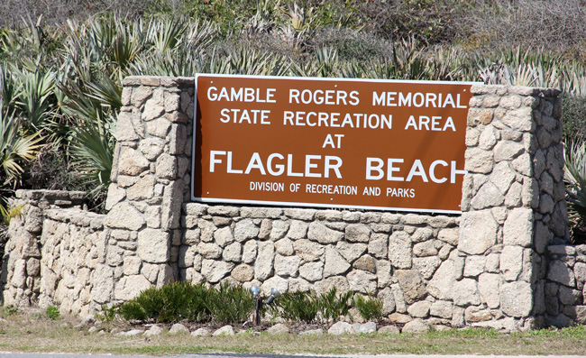 Gamble Rogers is waiting. (© FlaglerLive)