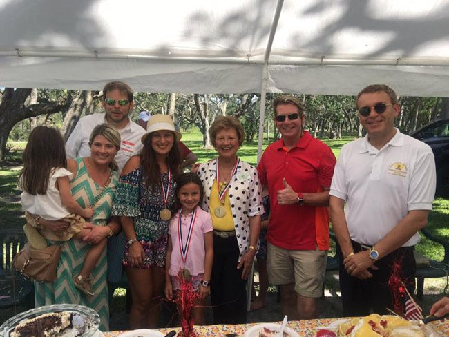 When it came to the best-dessert competition at the weekend's GOP picnic in Flagler, it was a three-generational win for the Johnstons: Suzanne Johnston, the tax collactor, won for best cake, her daughter Suzie Johnston, the Realtor, won for best pie, and her daughter Sidney won in the junior division. (Facebook)