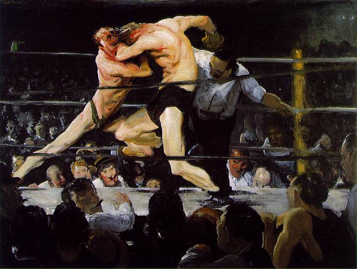 Something like that. (George Bellows's 'Stag At Sharkey's' (1909), at the Cleveland Museum)