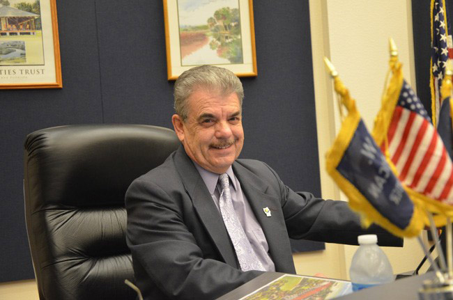 Flagler County Commissioner George Hanns is the longest-serving elected official in the county. (© FlaglerLive)