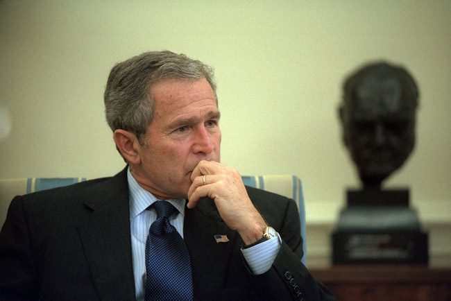 Makes you wistful for those days: the U.S. Supreme Court 17 years ago today ruled 5-4 to stop any further recounting in Florida, throwing the election to George W. Bush. (National Archives)