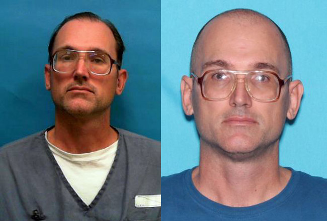 George Wayne Mason Jr. in his most recent prison picture, left, and in his sexual-offender picture authorities issued this week.