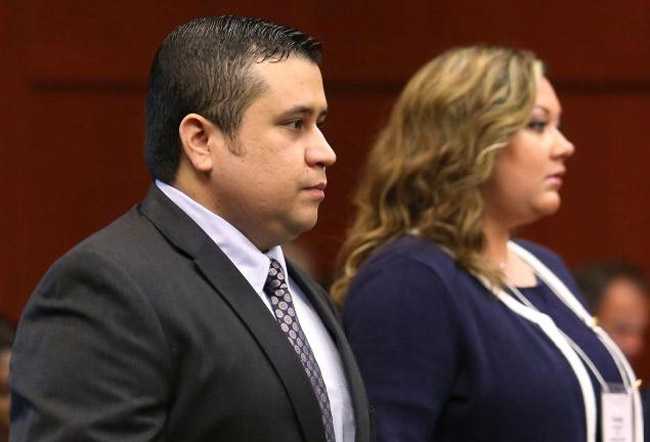 George and Shellie Zimmerman during the trial. (Pool/Getty)