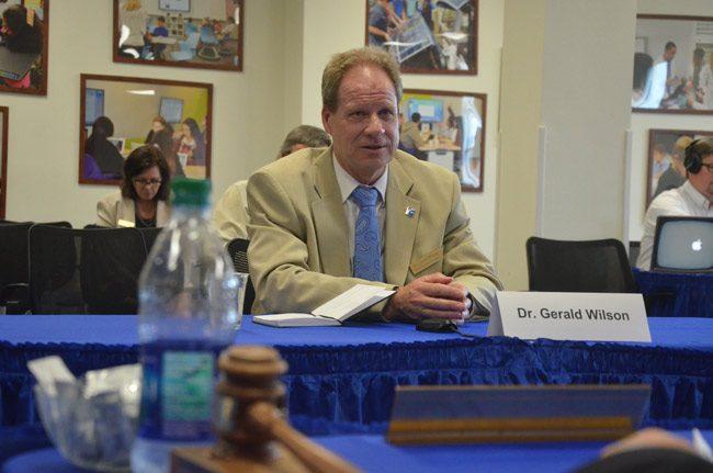 Gerald Wilson. (© FlaglerLive) superintendent interviews
