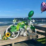 The 'Ghost Bike' in memory of Frederick Martinez. (Tiffany Martinez)