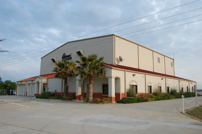 The 14,000-square foot building, built for the Ginn Corp., seen here when it still bore the company's name. (c FlaglerLive)