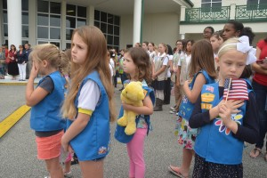 Members of Flagler County Ocean Crest Girl Scouts of America