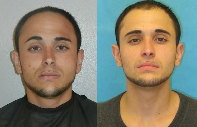 Giuseppe Verdone Jr. in his latest Flagler County jail mugshot, left, and in his Florida prison mugshot. He is currently being held at a county jail in South Carolina.