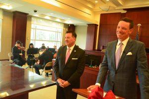 Deputy Clerk Luke Givens and Clerk of Court Tom Bexley. (© FlaglerLive)