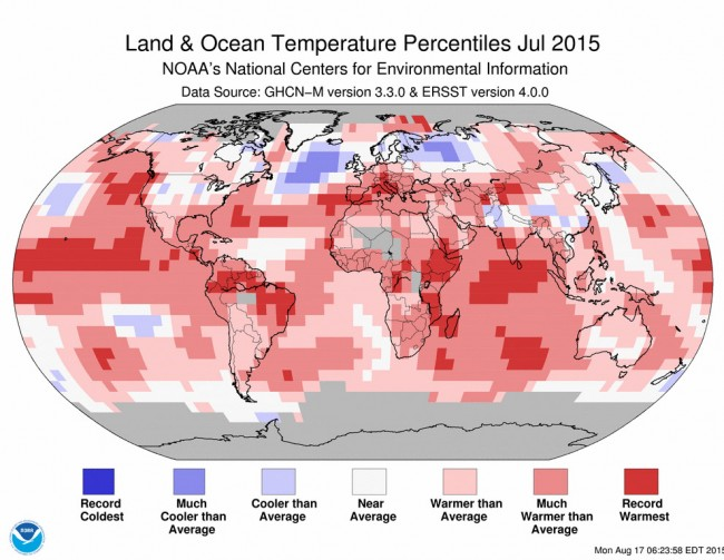 global warming warmest year on record