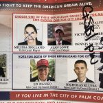 A Republican slate card Sen. Travis Hutson received, featuring candidates for the Palm Coast City Council, with incumbent Mayor Milissa Holland's name crossed out.
