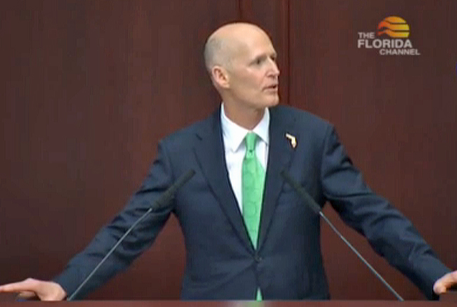 Gov. Rick Scott is facing a difficult reelection campaign.