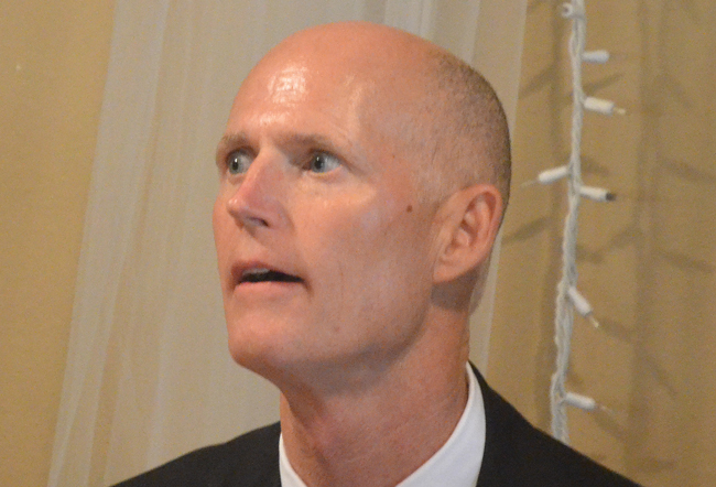 Gov. Rick Scott is trying to satisfy his tea party base's disdain of Common Core while remaining committed to the essence of Common Core itself. (© FlaglerLive)