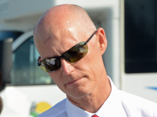Gov. Rick Scott is counting his chickens before they hatch. (© FlaglerLive)