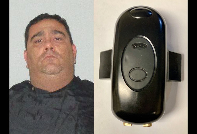 A judge ordered Richard Maloney to wear a GPS tracker like the pone seen here to ensure that he stayed away from his wife's home as he faced a domestic violence charge. When he violated the no-go order, the device triggered an alert, and he was re-arrested.