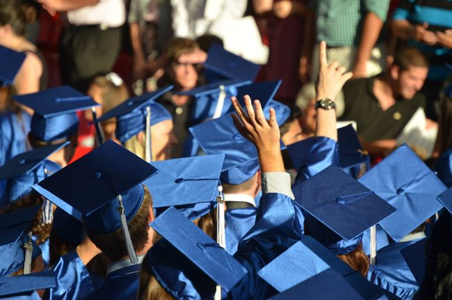 It's graduation time tonight for Matanzas and Flagler Palm Coast High students at the Ocean Center in Daytona Beach. (© FlaglerLive)