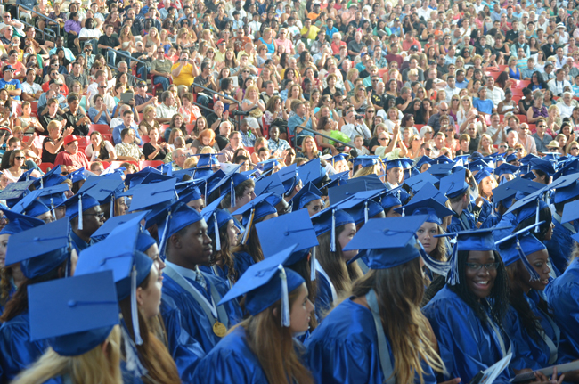 Matanzas High School recorded an 85.1 percent graduation rate in 2012-13. (© FlaglerLive)