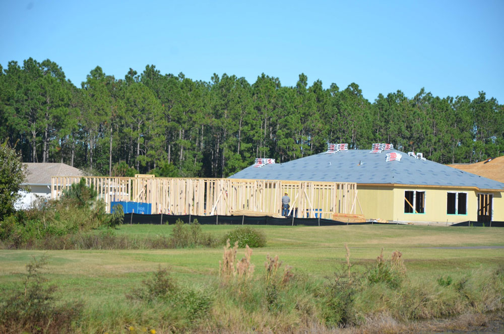 Bunnell has seen booming construction in Grand Reserve, the sprawling subdivision that's also increasing the city's population. But it hasn't kept taxes down. (© FlaglerLive)