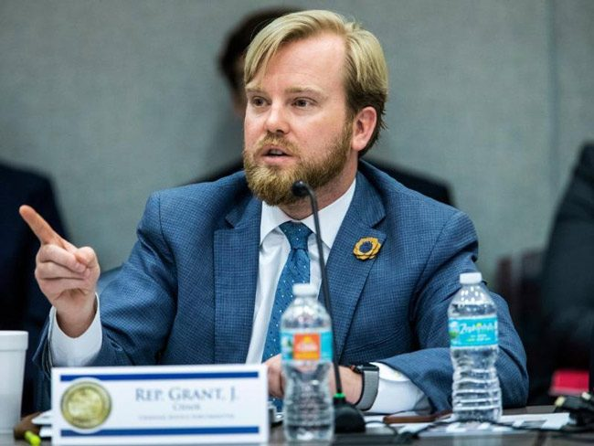 House Criminal Justice Chairman James Grant, R-Tampa, lengthens the list of proposed exclusions. (NSF)