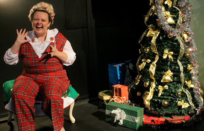 "Jenica Frederickson is Mickey in the Flagler Playhouse production of ""Greetings."" The comedy by Tom Dudzick will be staged at various times through Nov. 22. (Paige Malecki)"