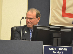 County Commissioner Greg Hansen. (© FlaglerLive)