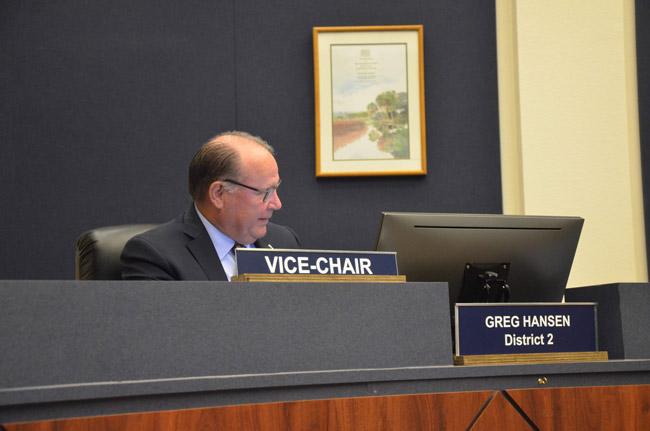 County Commissioner Greg Hansen. (© FlaglerLive)