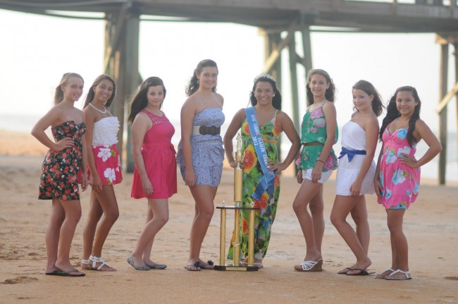 Miss Junior Flagler County Pageant Contestants, Ages 12-15. Center, Emily Palisoc, winner 2012.