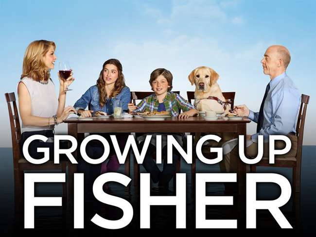 The cast of Growing Up Fisher, led by J. K. Simmons and Jenna Elfman. stereotype blindness