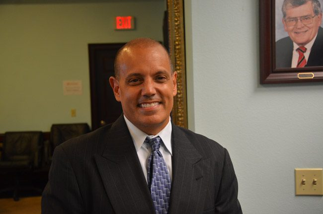 Jorge Gutierrez is the Flagler County Chamber of Commerce's new president. (© FlaglerLive)