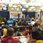 Eight teams piotched their ideas to a jry panel of six Sunday afternoon, after 4 hours of cramming during Palm Coast's inaugural Tech Beach Hackathon.(© FlaglerLive)