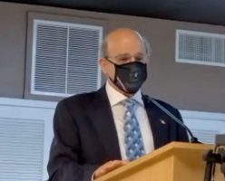 County Attorney Al Hadeed at the Flagler Beach City Commission Thursday evening.