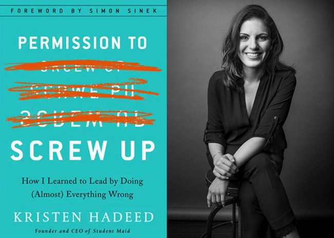'Permission To Screw Up,' Kristen Hadeed's first book, was published earlier this month by Portfolio/Penguin. (Peter Longworth)