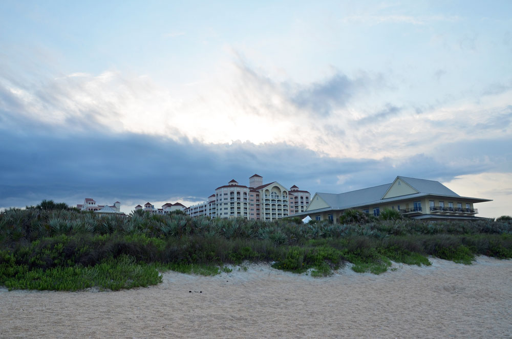 Hammock Beach Resort is a local economic engine but has been drawing criticism from residents concerned about activity they are observing there during the coronavirus emergency. (© FlaglerLive)