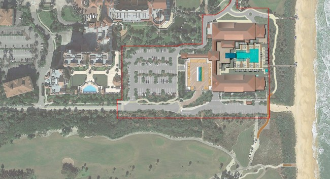 Proposed hotel site. Click on the image for larger view.