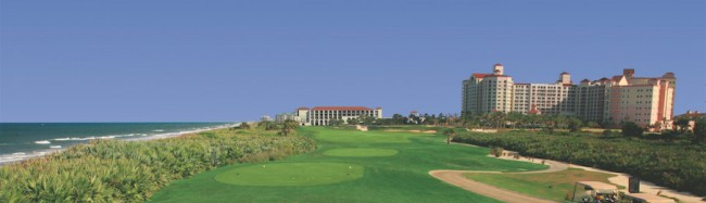 View of the proposed hotel from the 18th hole. Click on the image for larger view.