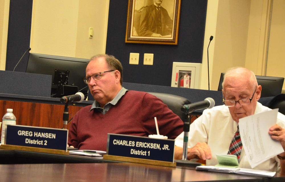 County Commissioner Greg Hansen will serve on the county canvassing board for the 2020 election cycle, with Charlie Ericksen as his alternate. (© FlaglerLive)